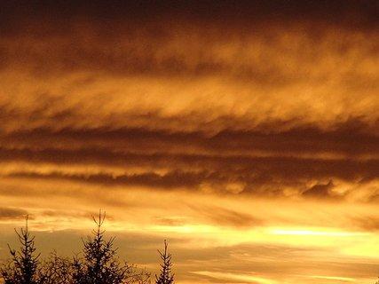 FOTKA - obloha bola ako v ohni