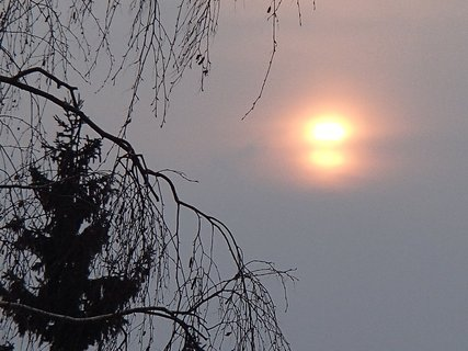 FOTKA - slnko vyzerá ako dvojité