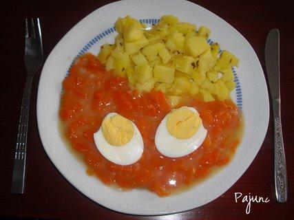 FOTKA - dušená mrkev s bramborami a vajíčkem