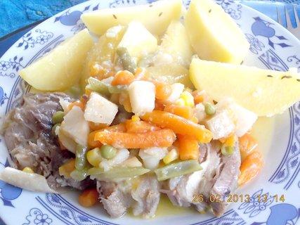 FOTKA - 24.2 - 27.2 - 13 - hovězí maso vařené, zelenina, brambor - dieta