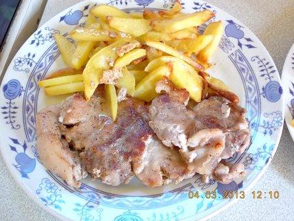 FOTKA - 4.3. - 5.3. - 6 - vařím oběd - rychlovku - manželův talíř