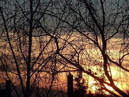 FOTKA - farba oblohy pri západe slnka