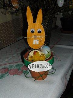 FOTKA - dcera Sabča vytvořila zajíčka