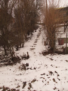 FOTKA - schody k chatce