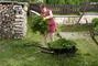 sečení zahrady