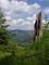 Krkonoše, vyhlídka směrem na Špindlerův Mlýn