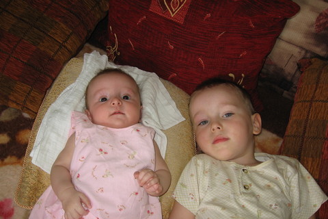 FOTKA - sourozenci Kristianek a Karolinka