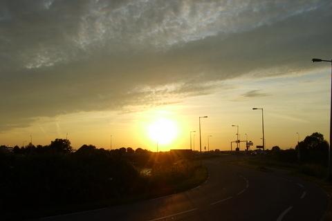 FOTKA - Zapad Slunce v Amsterdamu