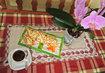 dnes ke kávě, piškotová roláda s tvarohovo-rybízovým krémem