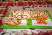 piškotová roláda se zapečenou ozdobou