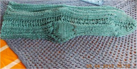 FOTKA - 5.4. - 8.4. - 7 - ponožky pracovní na zahradu, ze zbytku nití
