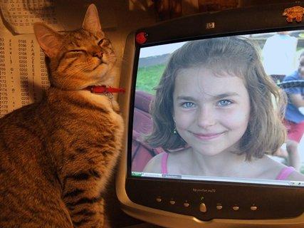 FOTKA - veronika s kočkou