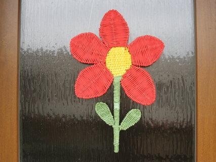 FOTKA - květina - výzdoba na dveře