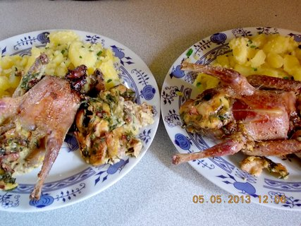 FOTKA - 4+5. května - 7 - nedělní oběd, byly nadívaná holoubátka