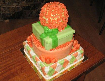 FOTKA - Oranžovo-zelený pro muže k narozeninám - 55