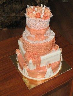 FOTKA - Růžovo-bílý dort pro ženu k narozeninám - 35
