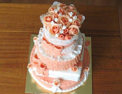 FOTKA - Růžovo-bílý pro ženu k narozeninám - 35