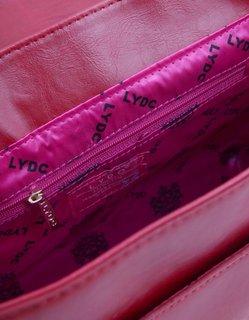 FOTKA - Na prodej - nová červená kabelka LYDC Bow Polka, cena: 900 Kč..