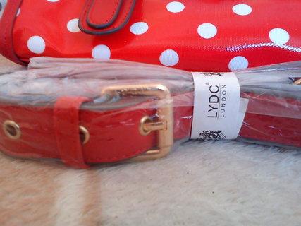 FOTKA - Na prodej - nová červená kabelka LYDC Bow Polka, cena: 900 Kč.....