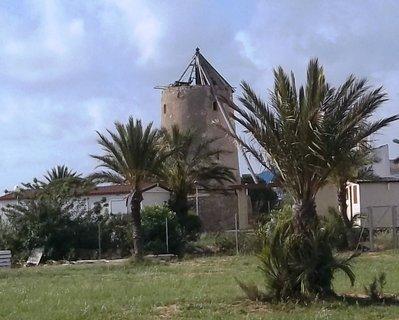 FOTKA - La Manga - starý větrný mlýn