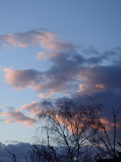 FOTKA - obloha pred večerom.