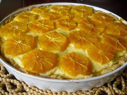FOTKA - tvarohový koláč s pomeranči