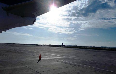 FOTKA - Španělsko, La Manga - východ slunce na letišti