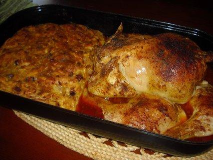 FOTKA - pečené kuře s nádivkou
