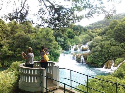 FOTKA - Vyhlídka u vodopádů - Krka
