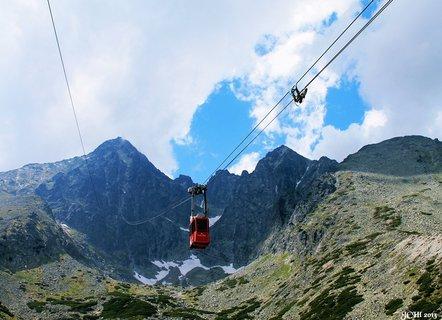 FOTKA - jízda na  Lomnický štít- Vysoké Tatry