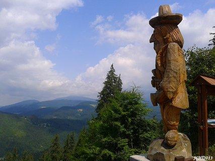 FOTKA - vrcholky Beskyd - Hl�da� zbojn�k na B�l�