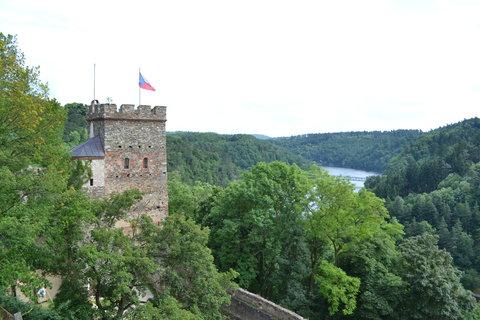 FOTKA - hrad Bítov -pohled z okna.