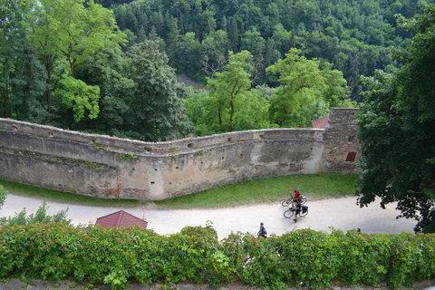 FOTKA - hrad Bítov -pohled z okna..