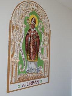 FOTKA - z výzdoby kaple sv. Floriána (obec Zaječí)