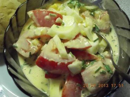 FOTKA - 23.7. - léto - 7 - letní salát, rajčatovo-vajíčkový