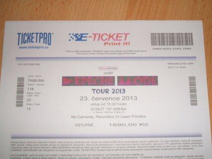 FOTKA - E-tiket na památku z Depeche Mode