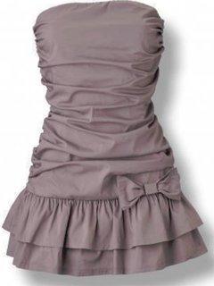 FOTKA - Hnědé šaty s mašlí