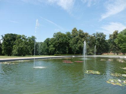 FOTKA - Slavkov u Brna - vodotrysk s lekníny v zámeckém parku