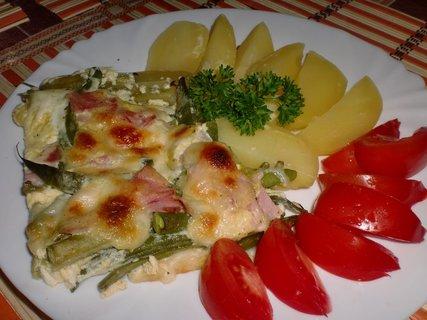 FOTKA - Fazolky zapečené se šunkou a mozzarellou