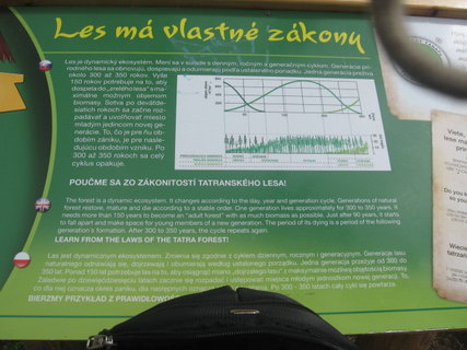 FOTKA - informačná tabula na trase Štrbské pleso - Popradksé pleso