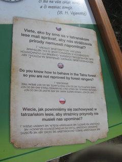 FOTKA - informačná tabula na trase Štrbské pleso - Popradksé pleso 2
