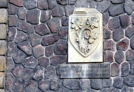 FOTKA - Znak Jana z Dražic - erb  je z roku 1333, kdy byl vystavěn první kamenný most