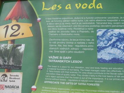 FOTKA - informačná tabula na trase Štrbské pleso - Popradské pleso 3