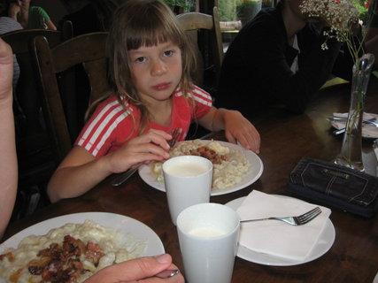 FOTKA - Brynzové halušky nám chutili