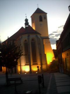 FOTKA - osvetleny kostel
