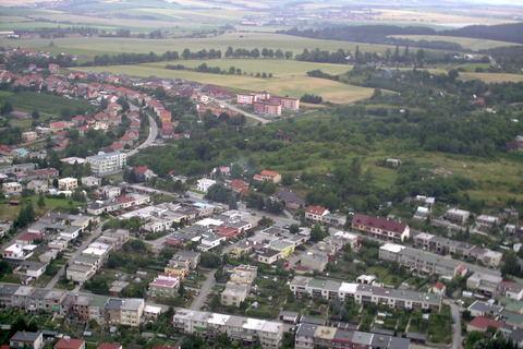 FOTKA - Boskovice z vrtulniku,celkove
