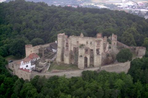 FOTKA - Boskovice z vrtulniku,hrad