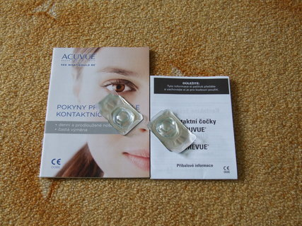 FOTKA - vzorek kontaktních čoček