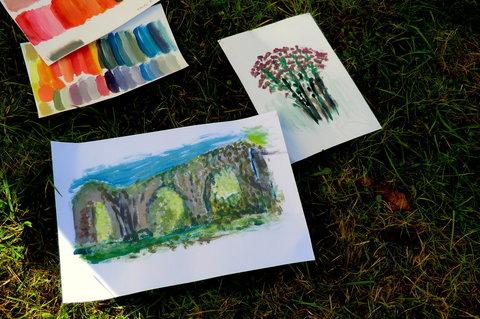 FOTKA - V klášterní zahradě - snaha o zachycení tajemné atmosféry....