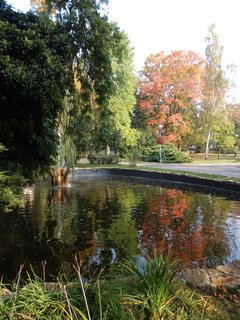 FOTKA - Teplice - l�ze�sk� park je uprost�ed m�stsk�ho ruchu v�tanou relaxa�n� o�zou.
